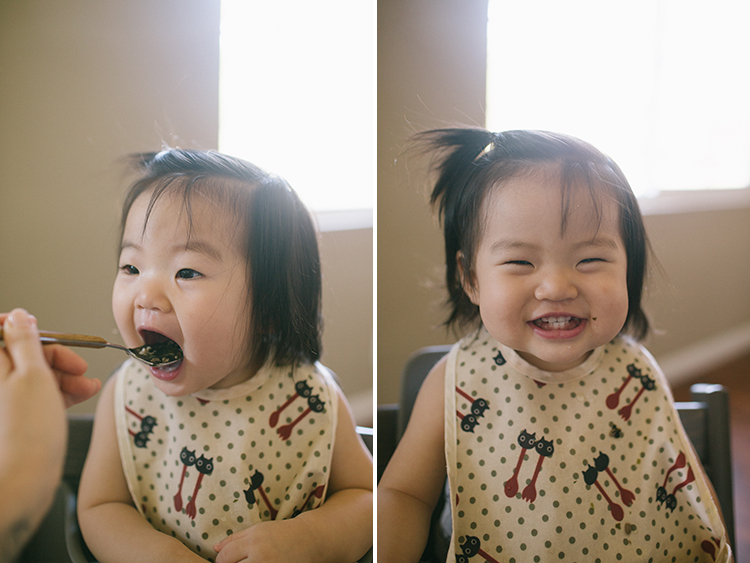 Korean baby eating
